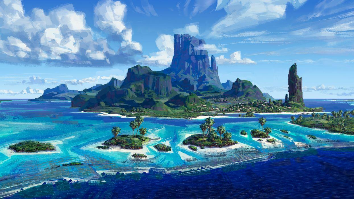 Artist Moana Island wallpaper