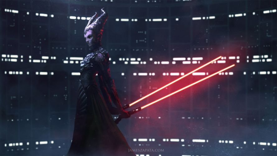 Movies Star Wars Horns Woman Lightsaber Sci Fi wallpaper