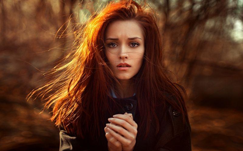 Girls Redhead Girl long hair female wallpaper