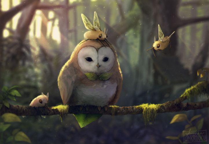 Artist Tranquil Owl wallpaper
