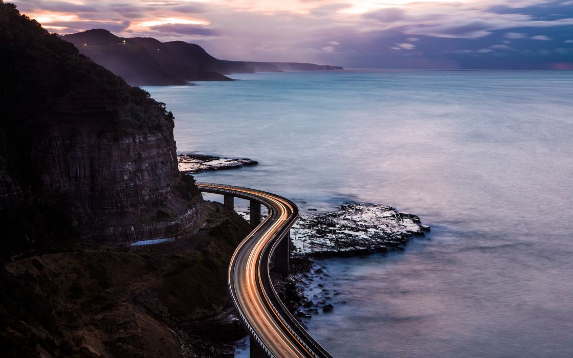 Nature Road Over Mountains wallpaper