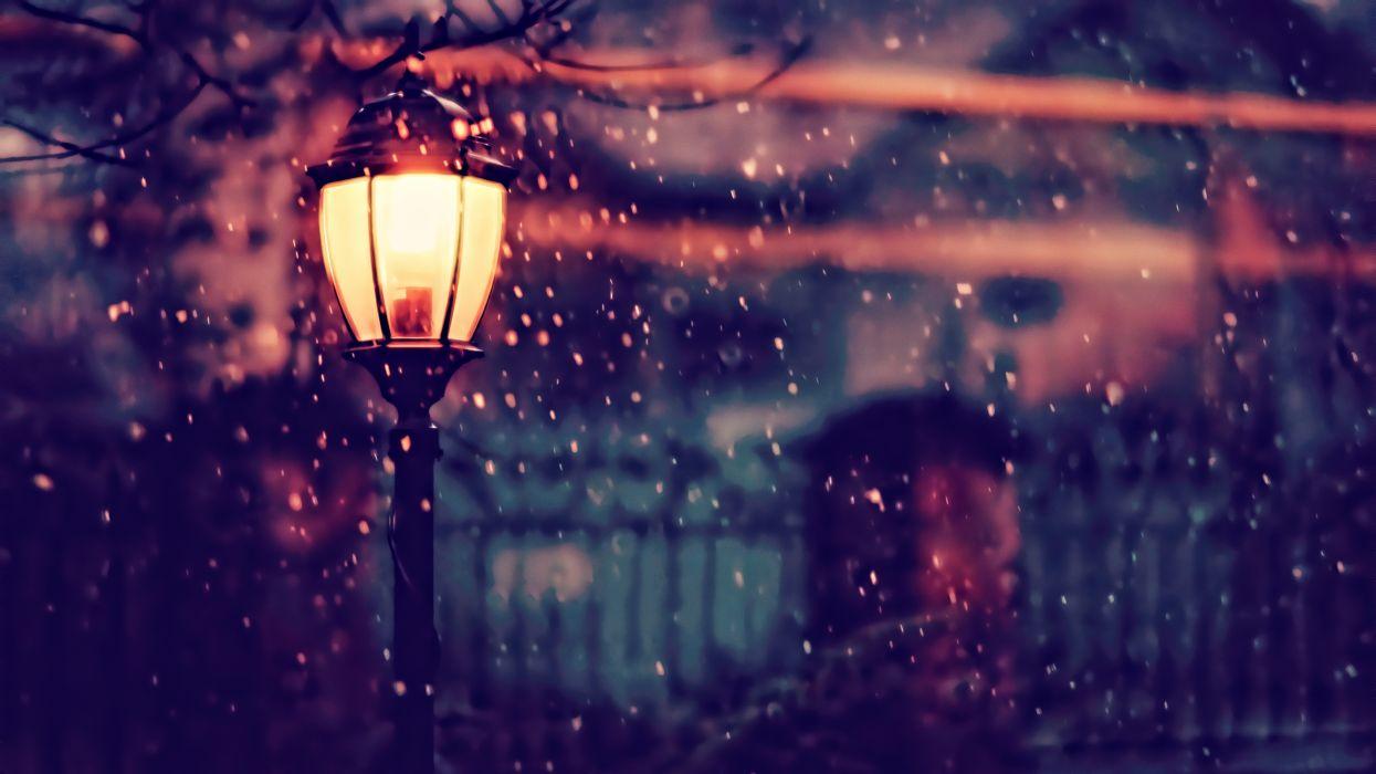 Photography Street Light Winter wallpaper