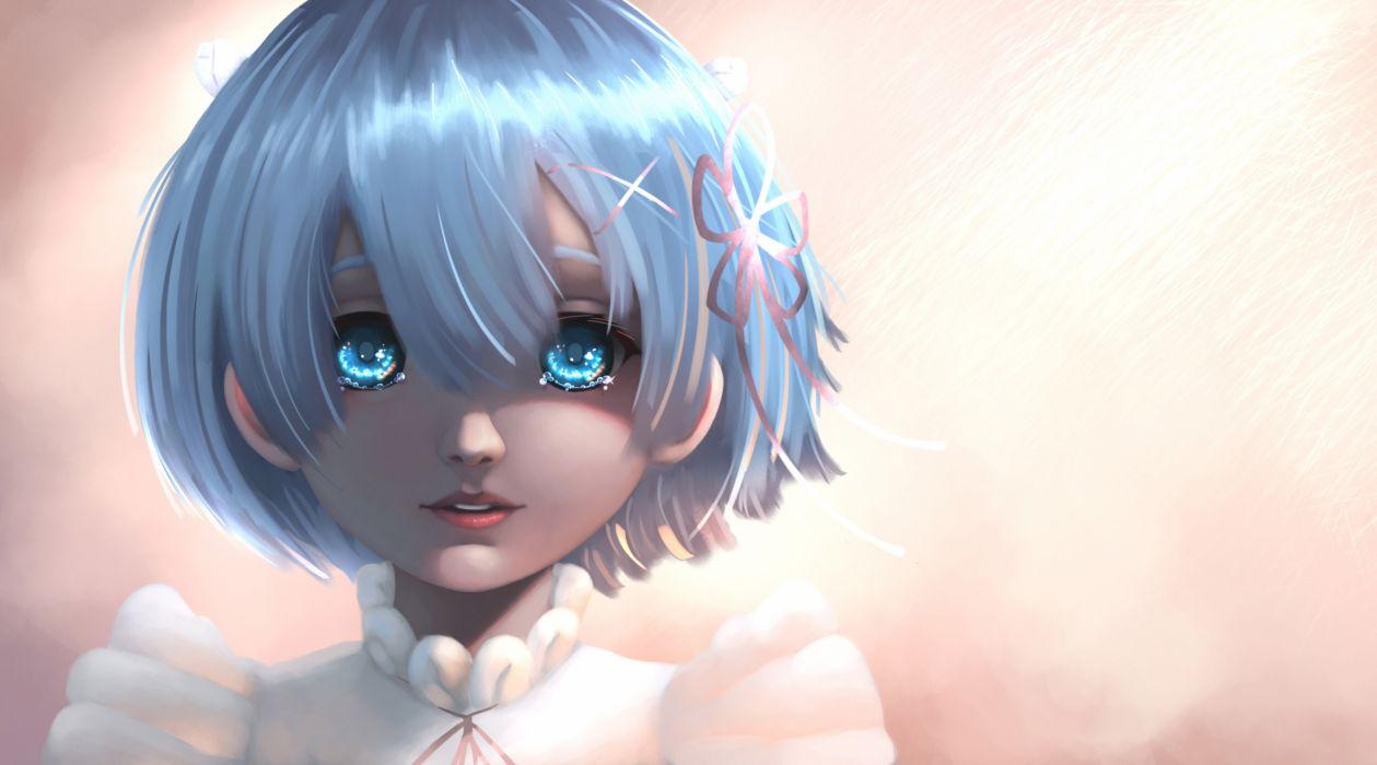 Anime Anime Girl Artwork blue eyes hair beauty cute wallpaper