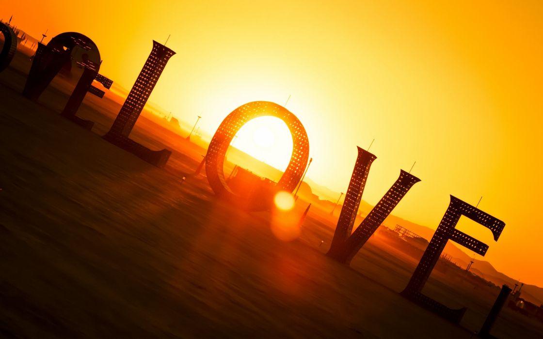 Love Sunset Love wallpaper