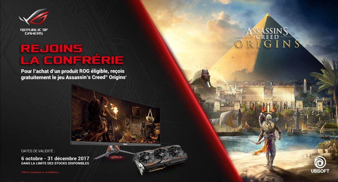 asus computer gaming technics technical Assassins Creed Origins 1asco action adventure assassin fantasy fighting game stealth video videogame warrior wallpaper