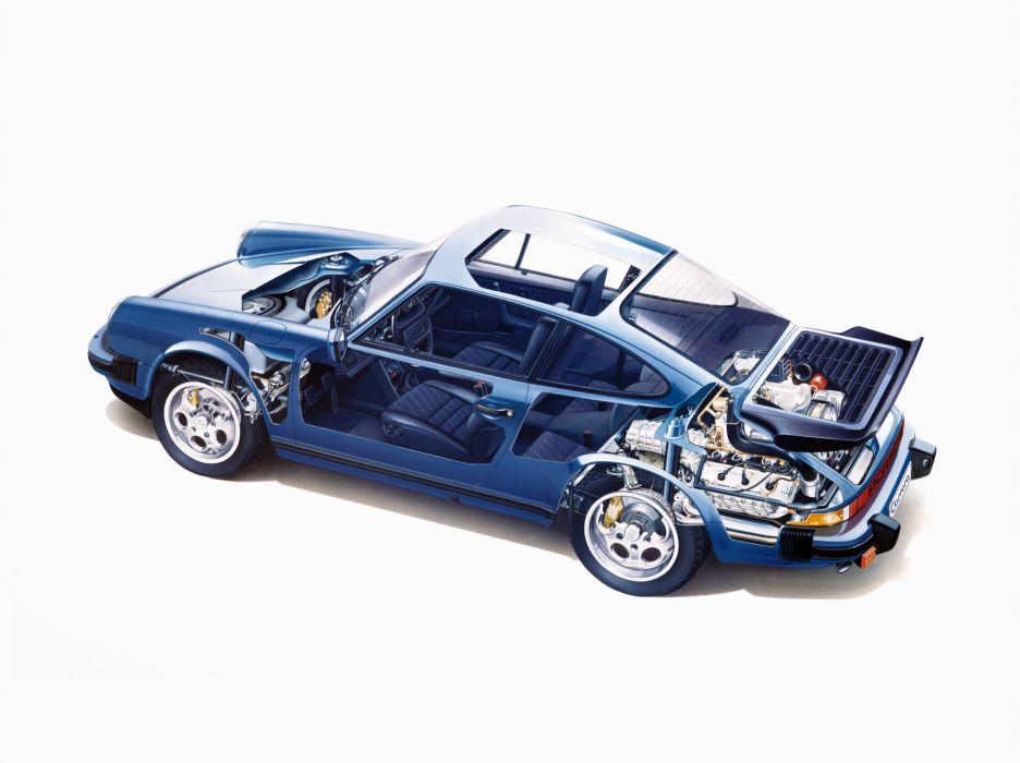 Porsche 911 Carrera 3 2 G-Series MkII Cutaway wallpaper