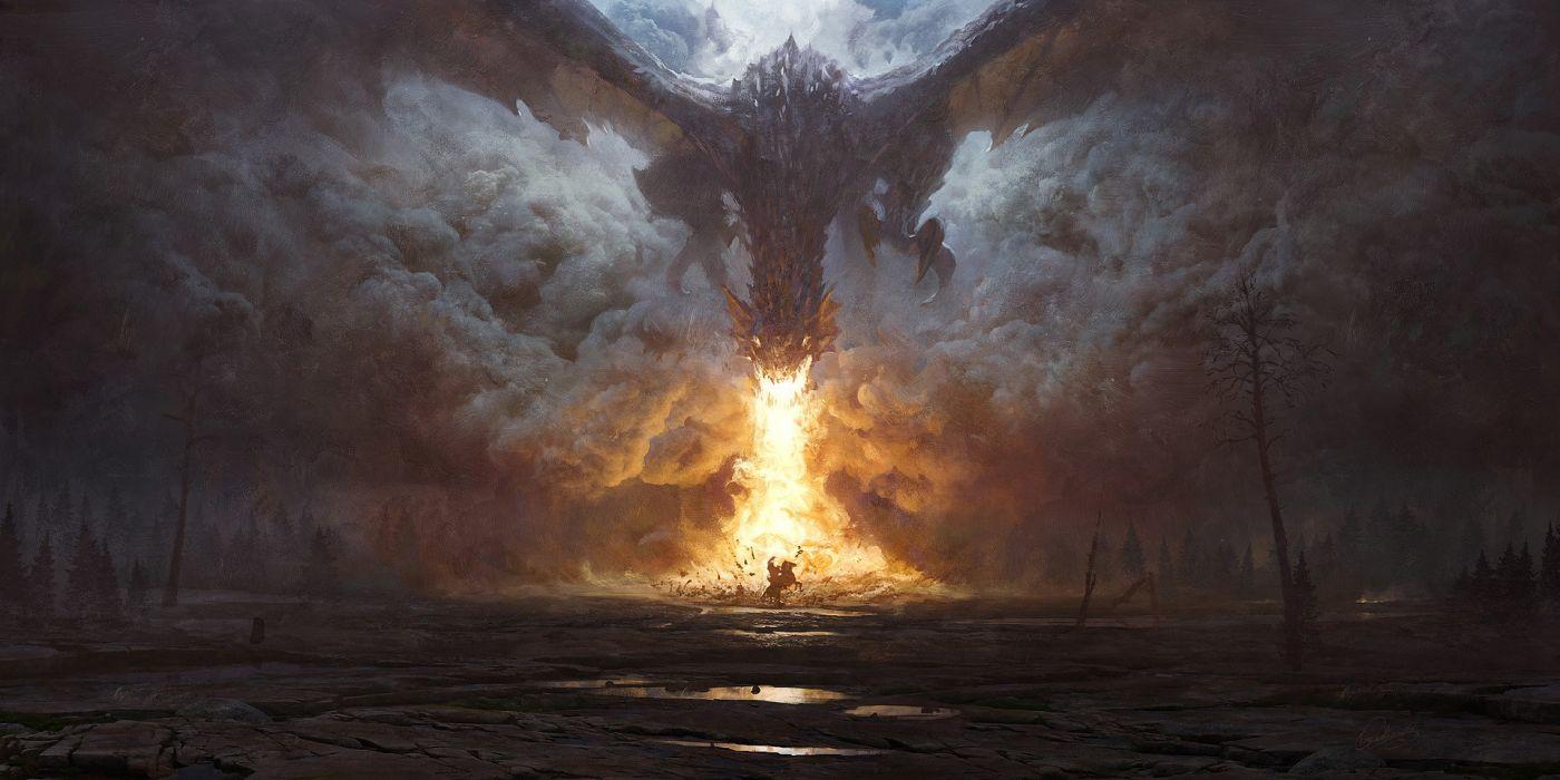 Dragons Fire fantasy wallpaper