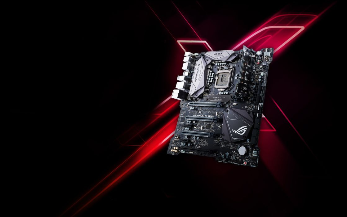 ASUS ROG computer gamer gaming republic technics technology electronic wallpaper