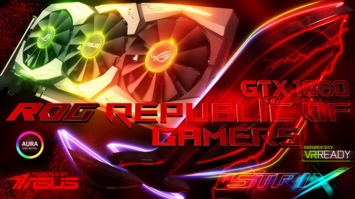 ASUS ROG computer gamer gaming republic technics technology electronic videogame wallpaper