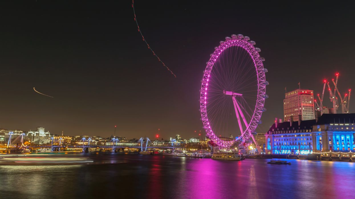 London-Eye-by-Night wallpaper