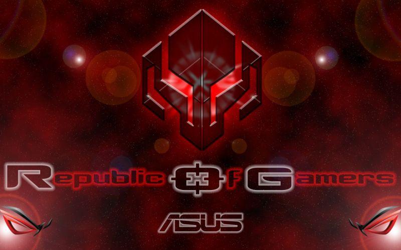 ASUS ROG computer gamer gaming republic technics technology electronic videogame wallpaper