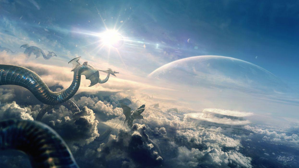Dragon Flight Eclipse wallpaper