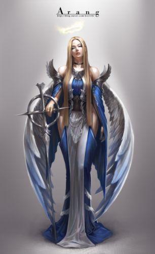 Digital 2D Characters Fantasy Concept Art Painting Digital Art drawing TaeKwon Kim(A-rang) Arang illustration Game Art wallpaper