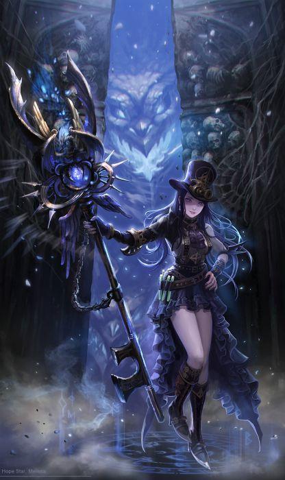 hope-star-melissa Digital 2D original fantasy artist beautiful girl wallpaper