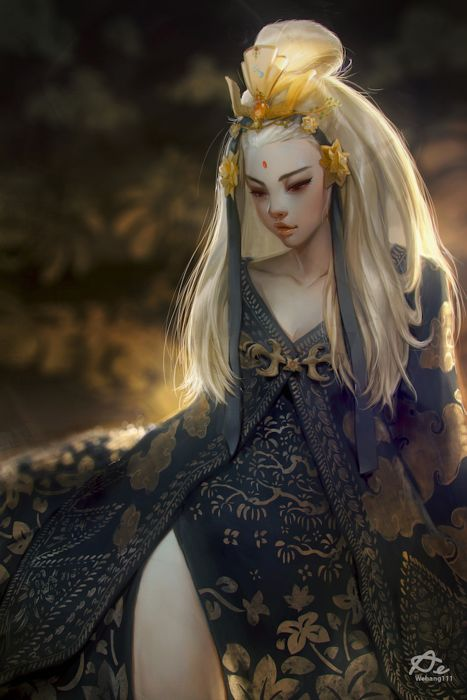 Digital 2D original fantasy artist beautiful girl wallpaper