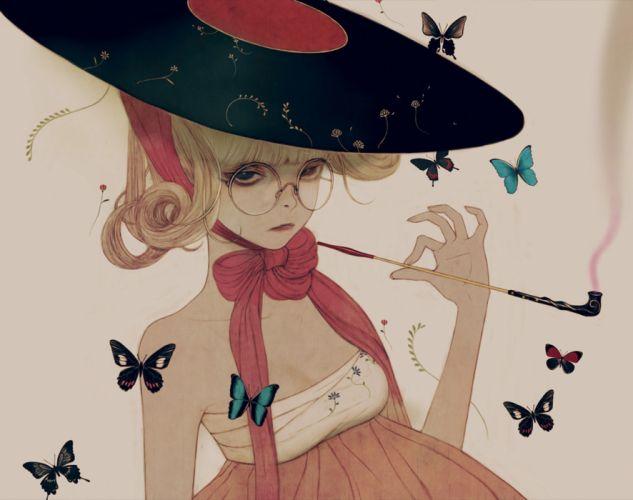 dress original fantasy artist beautiful girl Chaehwa Min wallpaper
