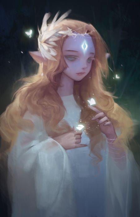 mechta-karma Digital 2D original fantasy artist beautiful girl wallpaper