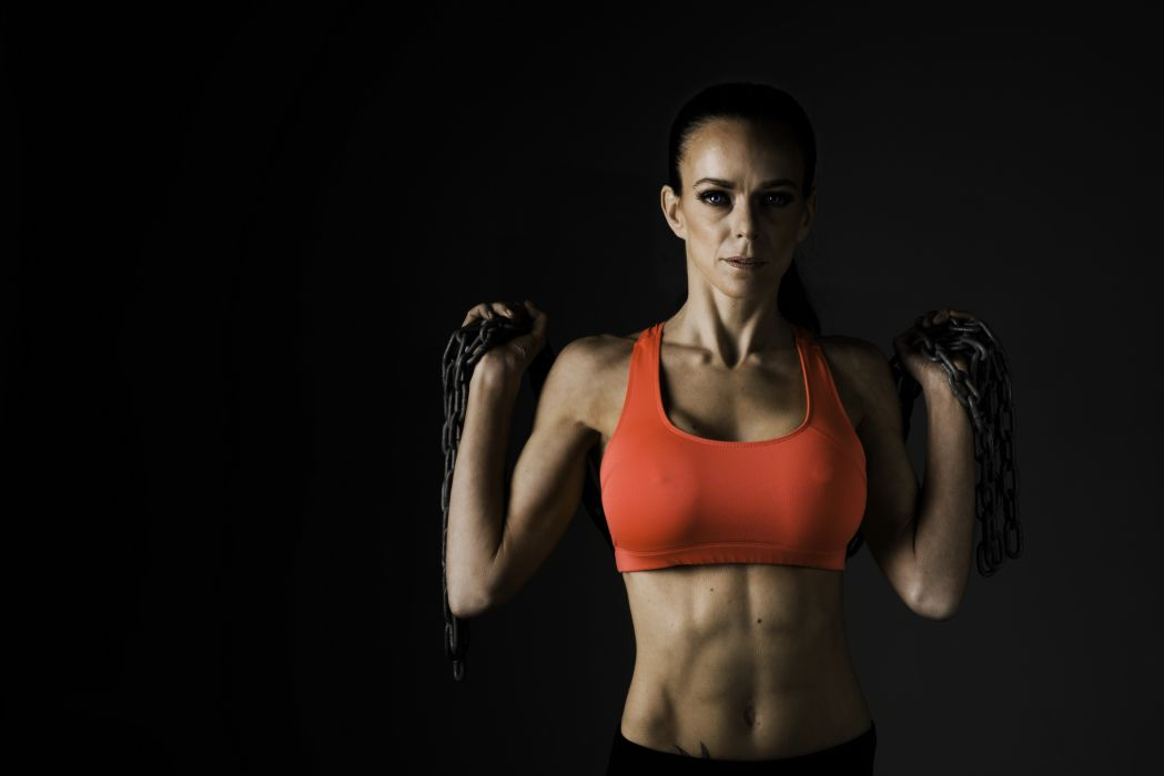 Sport sensuality sensual sexy girl woman model body fitness workout sportswear belly abs navel muscles skinny chains wallpaper