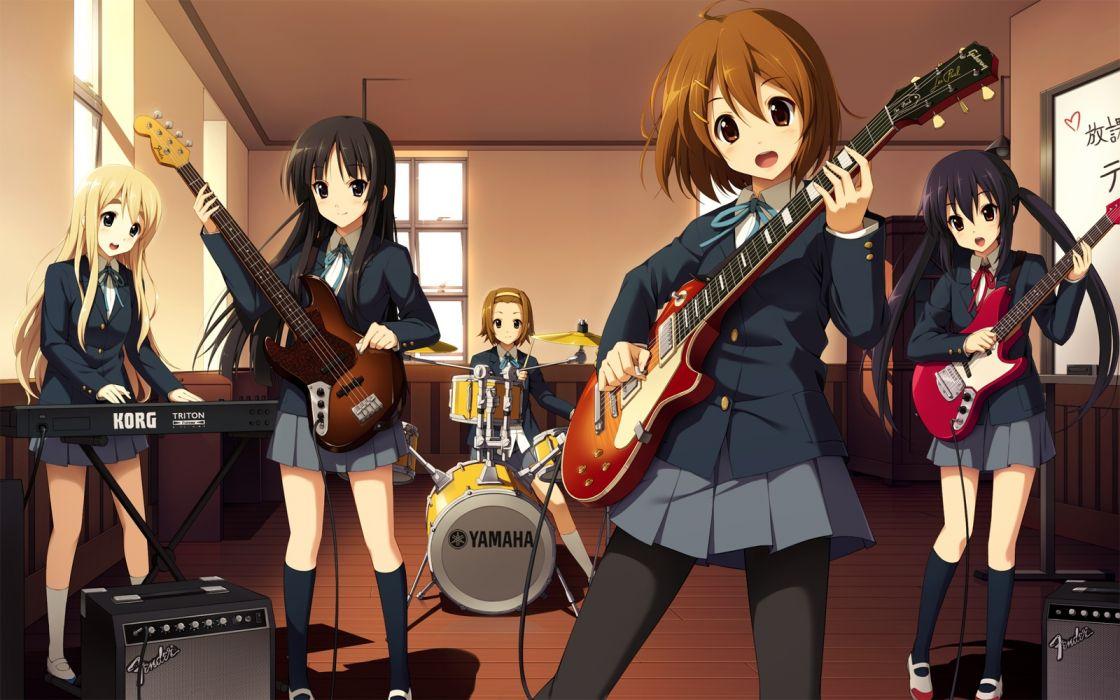 Konachan com - 240032 akiyama mio cygnus drums group guitar hirasawa yui instrument k-on! kotobuki tsumugi music nakano azusa seifuku tainaka ritsu wallpaper
