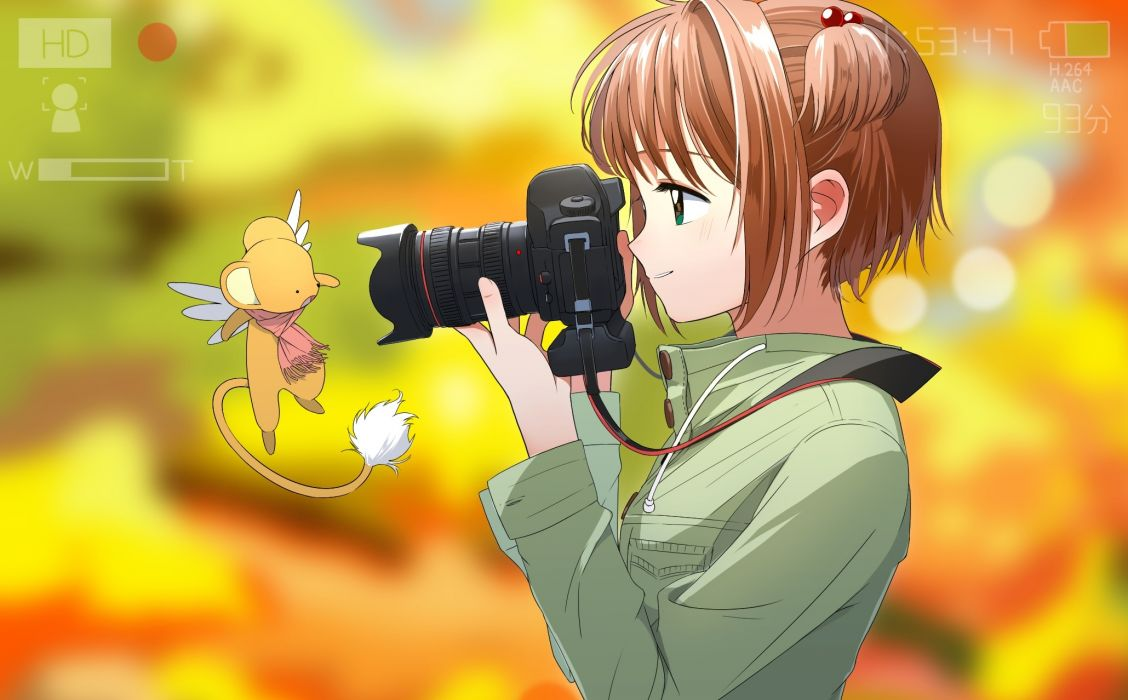 Konachan com - 239480 aspara brown hair camera card captor sakura kerberos kinomoto sakura short hair wallpaper