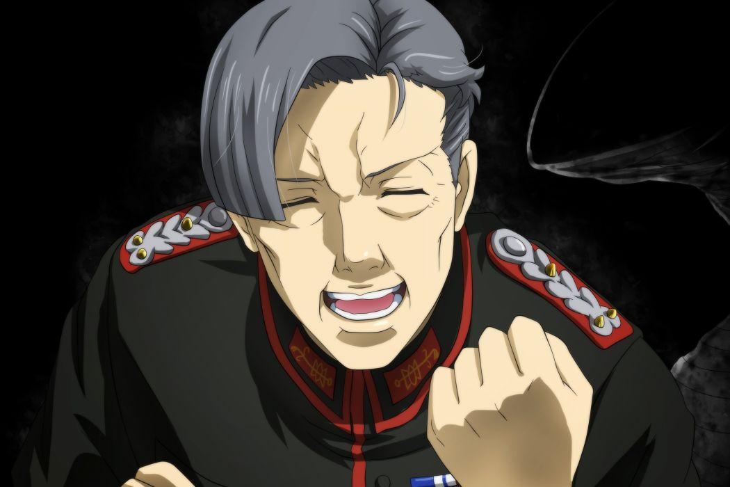 Konachan com - 239068 all male dark genya67 gray hair hans von zettour male military short hair uniform youjo senki wallpaper