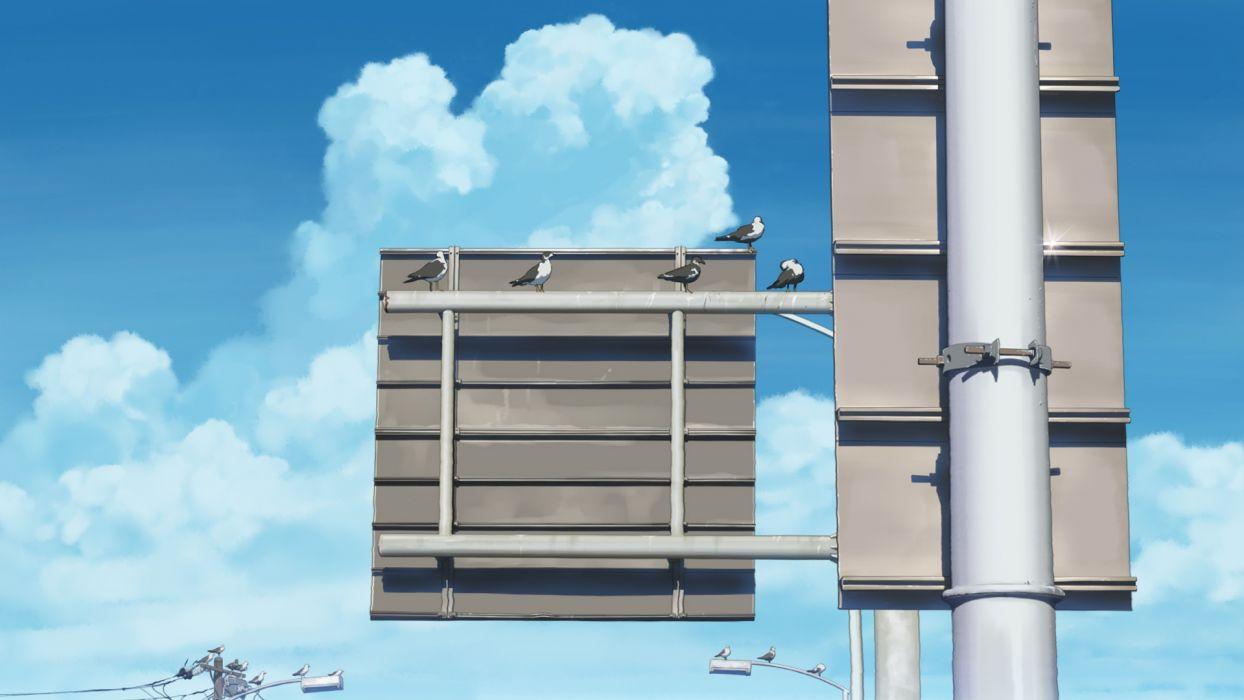 Konachan com - 237954 animal bird clouds isai shizuka nobody original sky wallpaper
