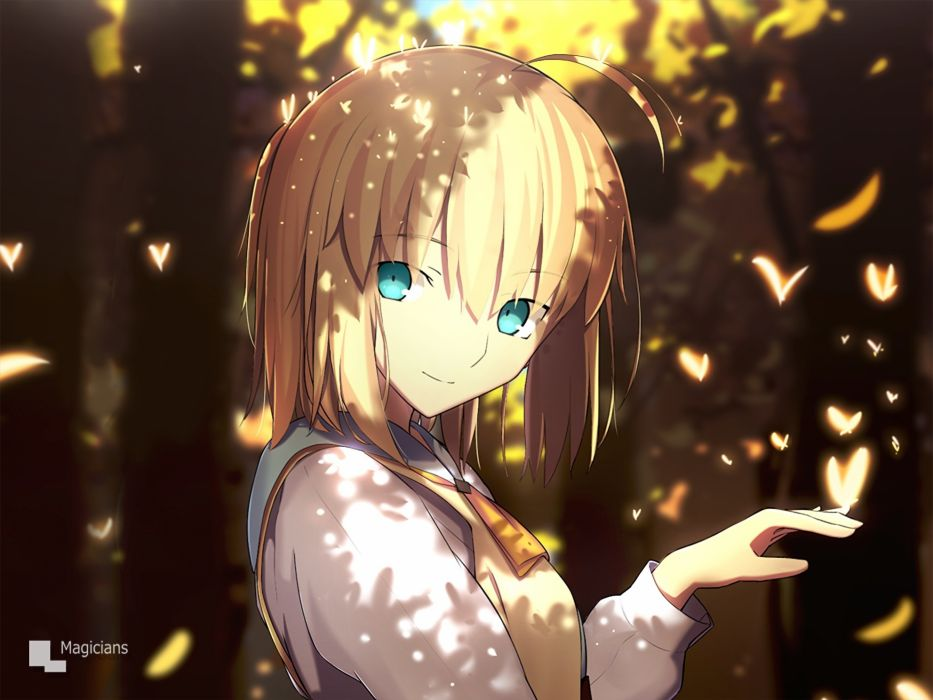 Konachan com - 238365 aqua eyes blonde hair fate (series) fate stay night magicians saber short hair waifu2x watermark wallpaper