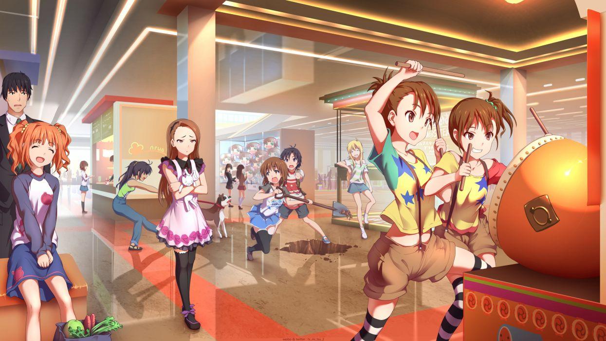 Konachan com - 238663 futami ami futami mami ganaha hibiki group idolmaster male minase iori shibuya rin shimamura uzuki tagme (character) tokinohimitsu tsubaki yayoi twins wallpaper