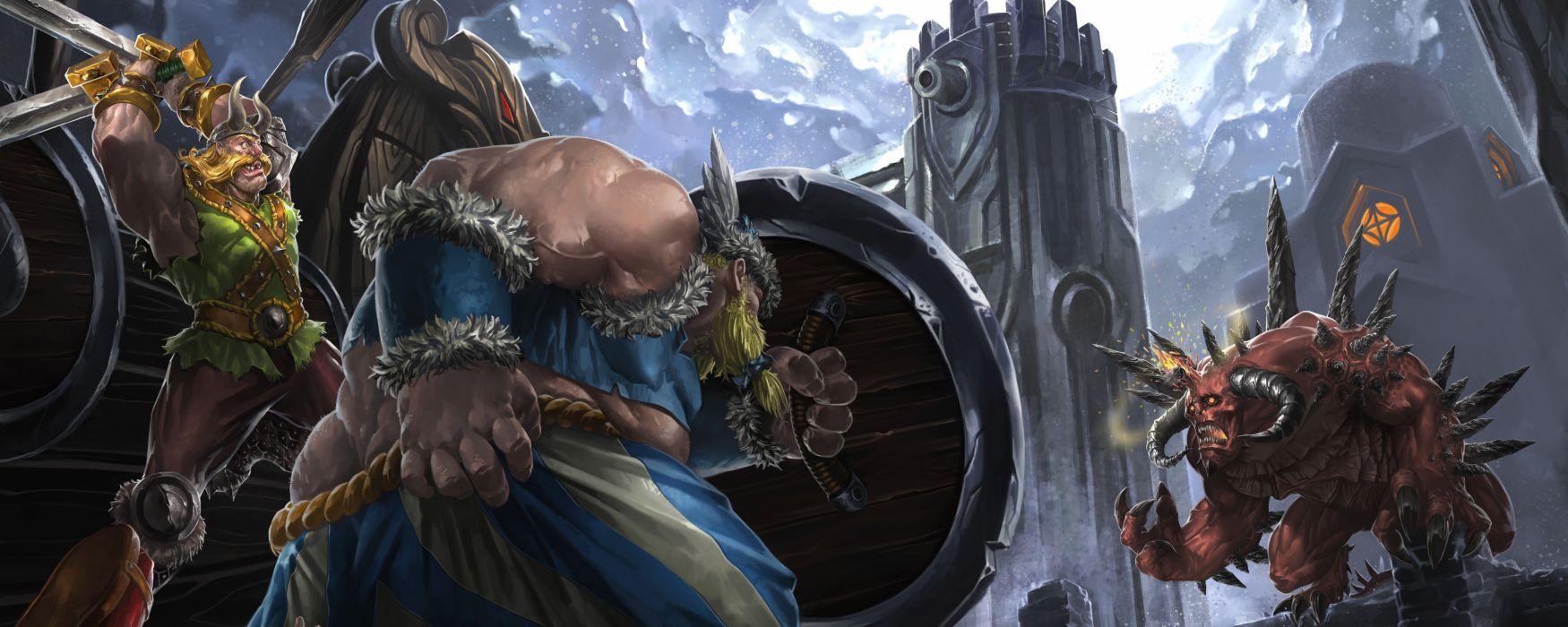 HEROES STORM fantasy sci-fi fighting online arena warrior 1hots wallpaper