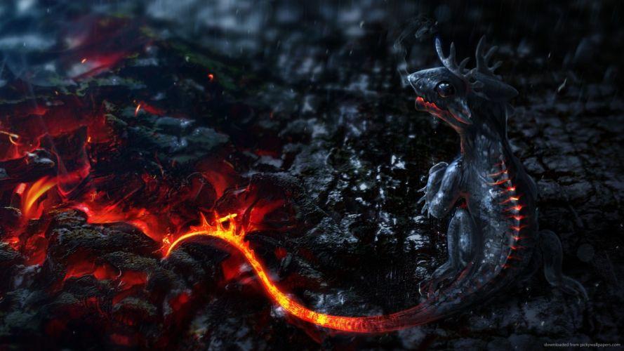 Dragon Baby Fire wallpaper