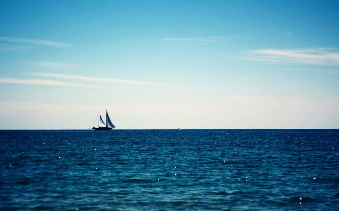 Oceano barco vela agua naturaleza wallpaper