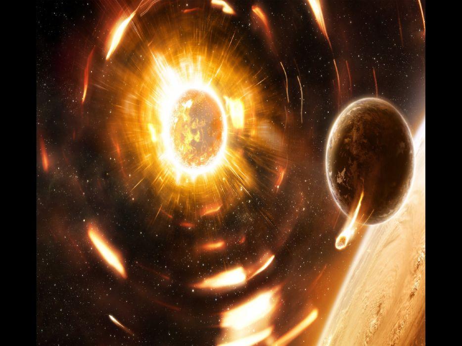 cosmos planetas espacio naturaleza wallpaper