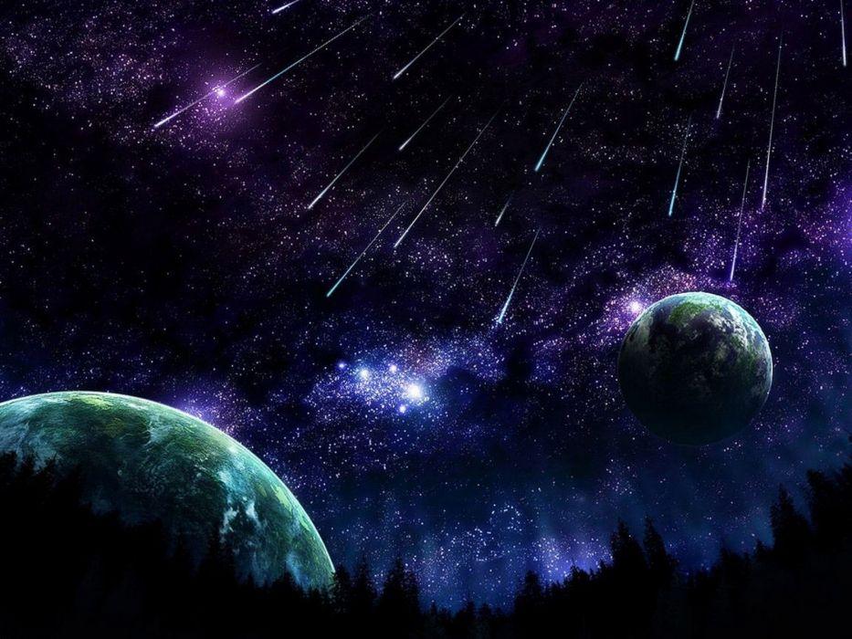 meteoritos planetas naturaleza espacio wallpaper
