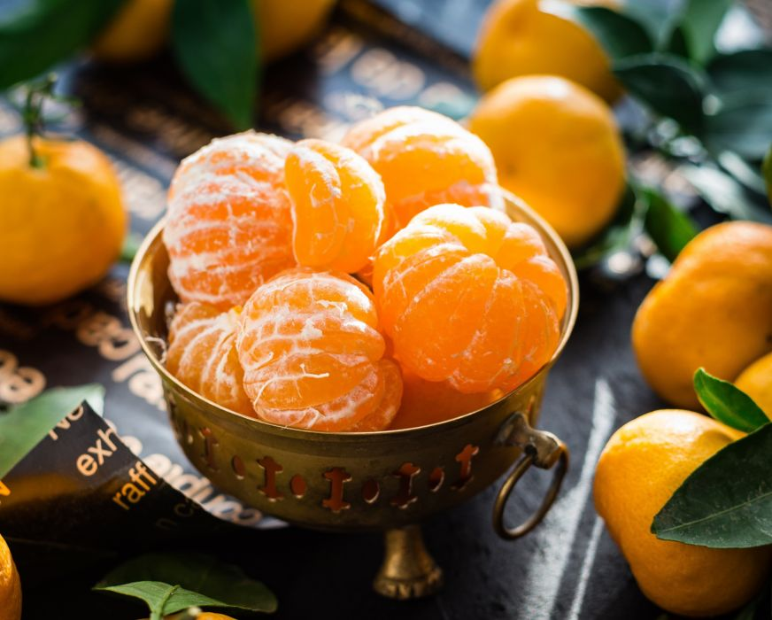 appetizing citrus clementines close-up delicious food fresh freshness fruit health juice juicy leaf mandarins nutritious orange ripe sweet table tangerine tasty tropical vitamins wallpaper