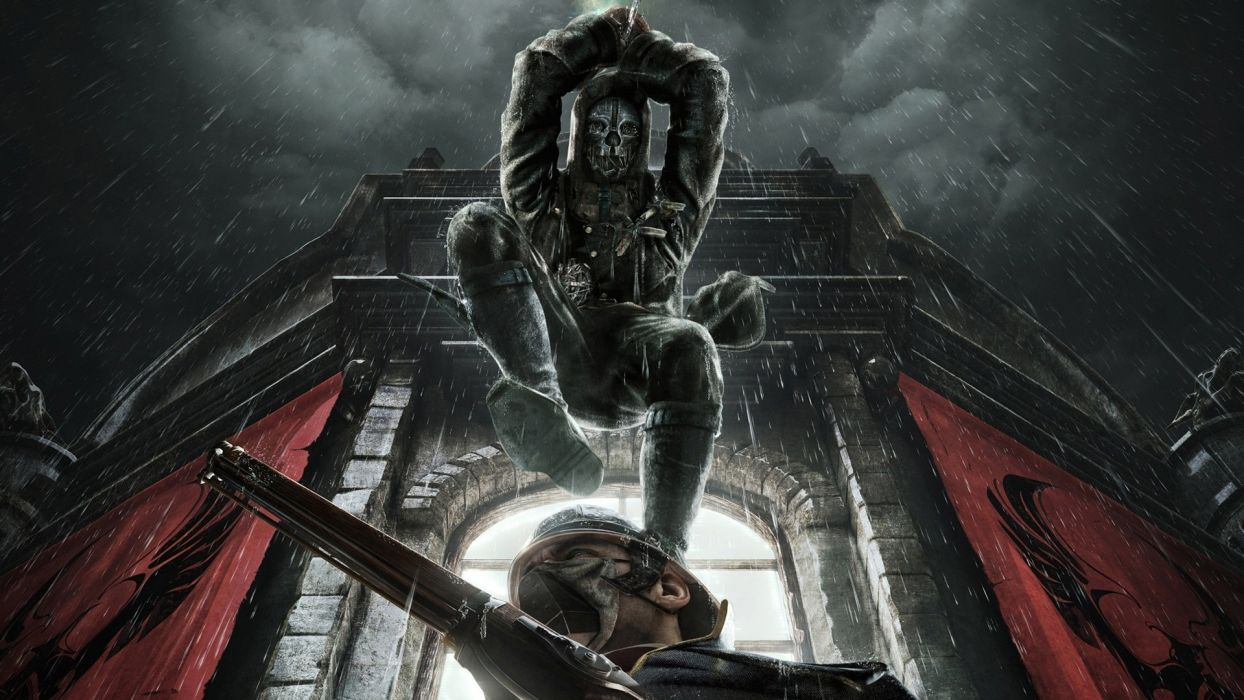 DISHONORED action assassin sci-fi futuristic warrior fighting adventure supernatural wallpaper