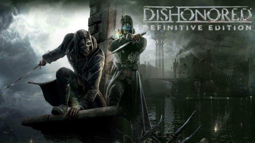 DISHONORED action assassin sci-fi futuristic warrior fighting adventure supernatural wallpaper