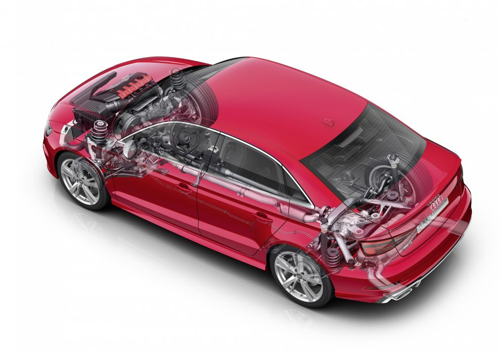 Audi RS3 Sedan 8V MkII 2016 Cutaway wallpaper