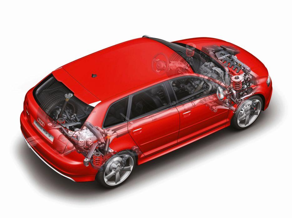 Audi RS3 Sportback 8PA 2012 Cutaway wallpaper