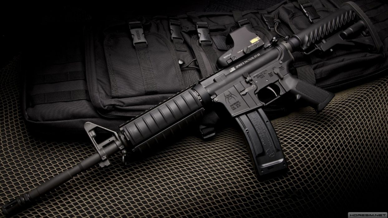 M4A1 weapon gun military rifle police wallpaper