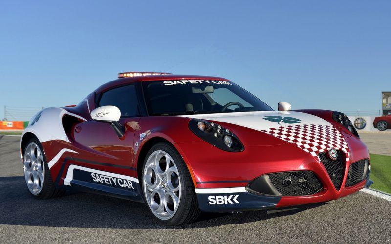 Alfa Romeo 4C SBK Safety Car 2014 wallpaper