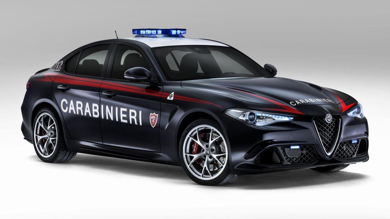 Alfa Romeo Giulia Quadrifoglio Carabinieri 2016 wallpaper