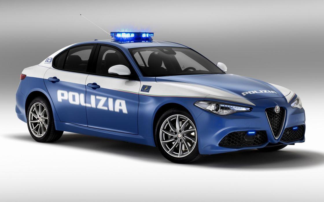 Alfa Romeo Giulia Veloce Polizia 2016 wallpaper