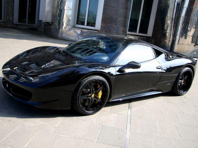 Anderson Germany Ferrari 458 Italia Black Carbon Edition 2011 wallpaper