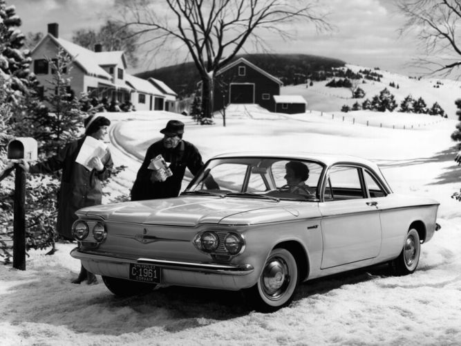Chevrolet Corvair Deluxe 700 Club Coupe 1961 wallpaper