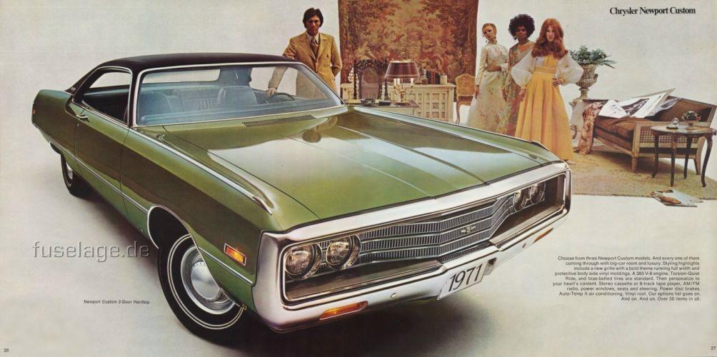 Chrysler Newport Custom Hardtop 1971 wallpaper
