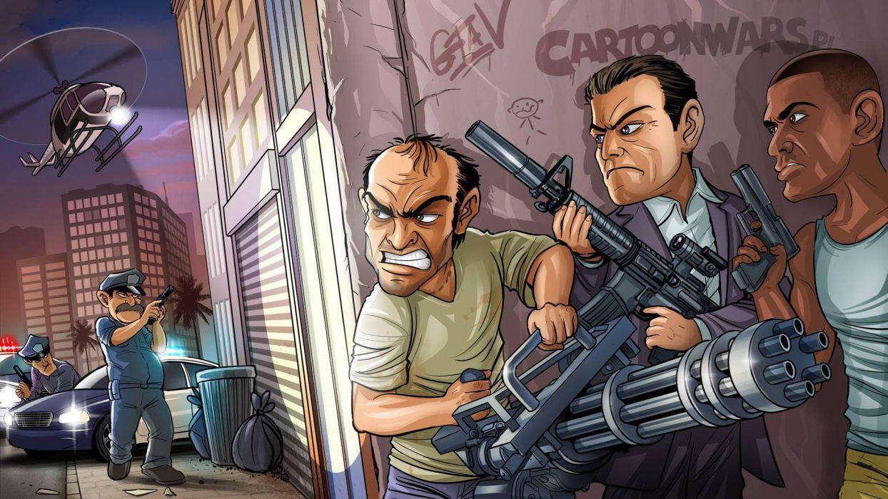 bandits weapons michael trevor phillips franklin grand theft auto v rockstar north rockstar games gta 5 95486 1920x1080 wallpaper