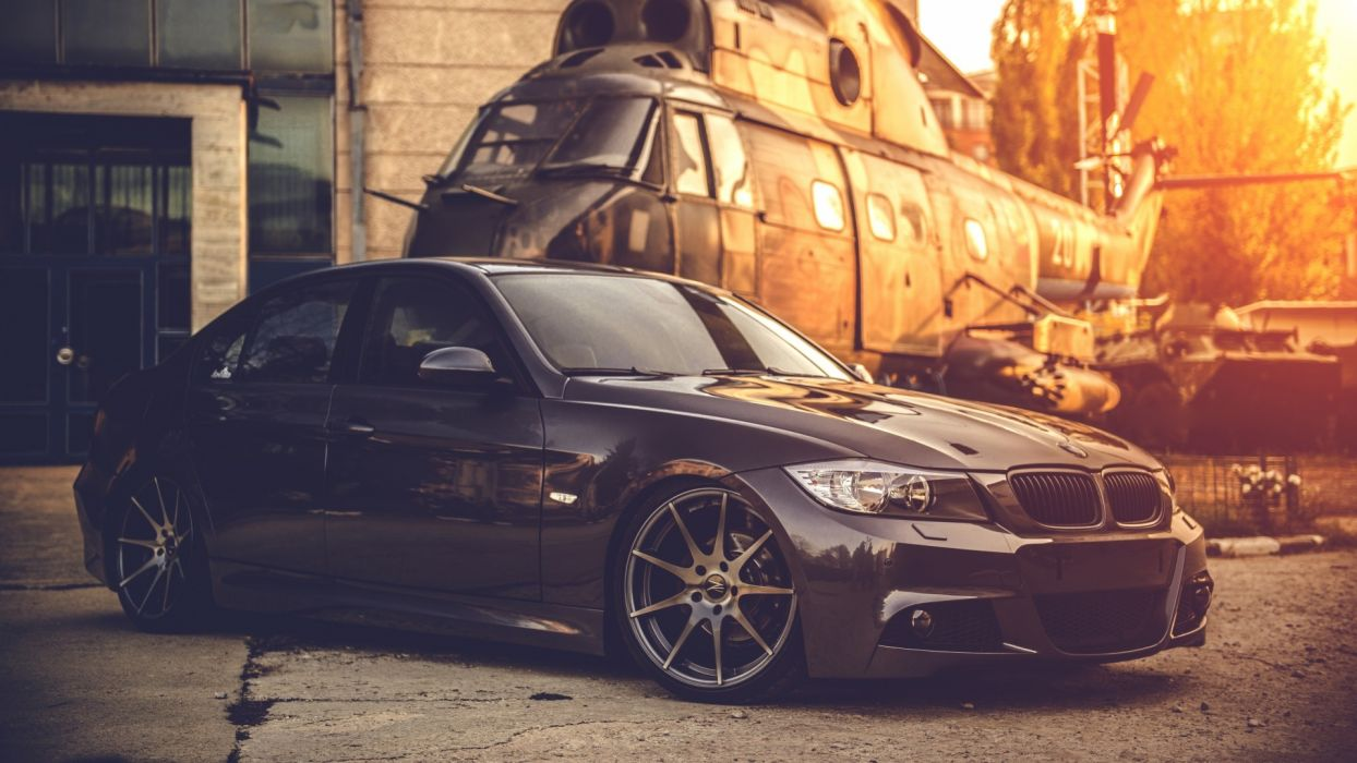 bmw e90 deep concave black helicopter 94623 1920x1080 wallpaper