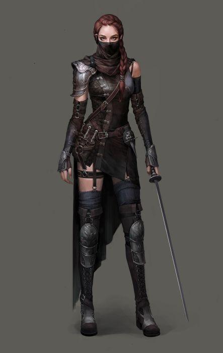 thief girl concept artist artstation fantasy SiwooKim Characters wallpaper
