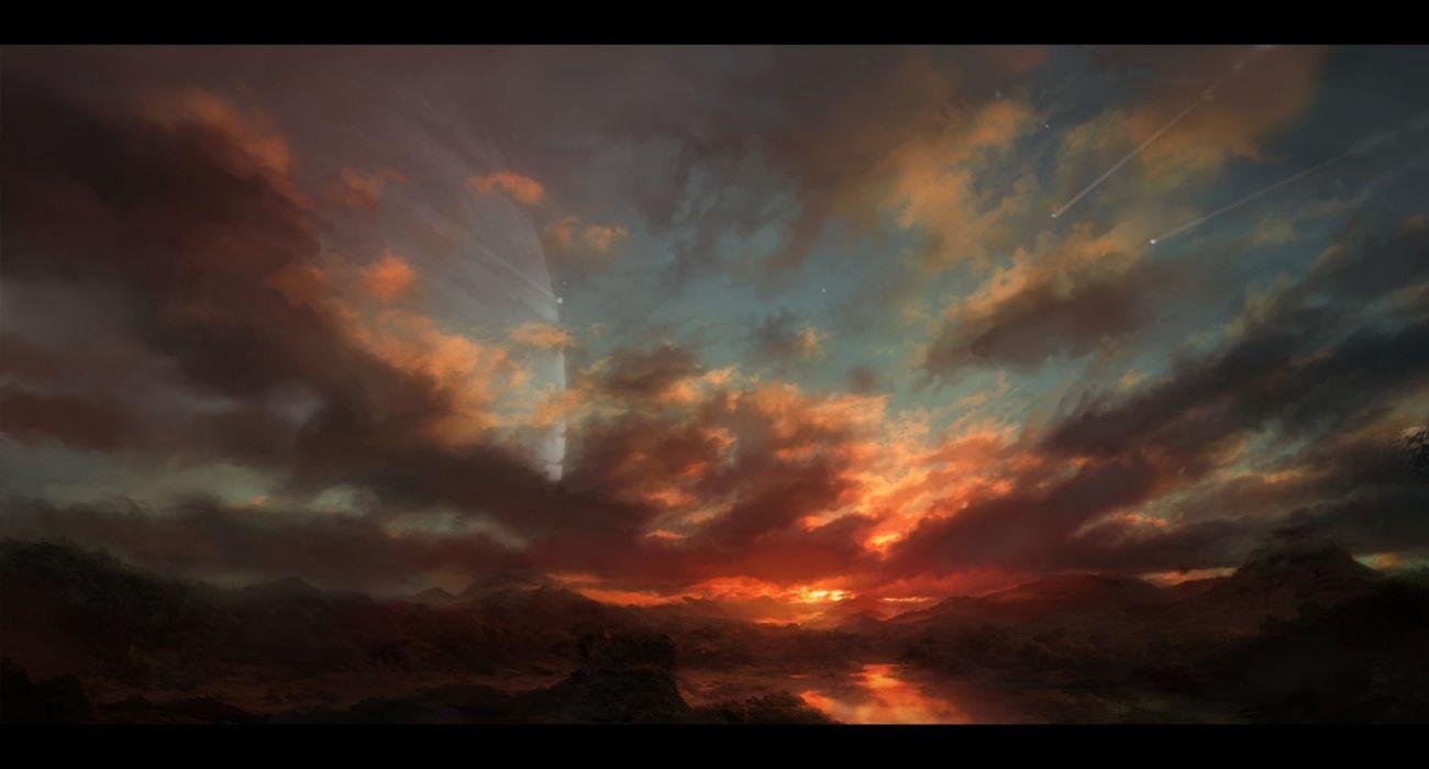 sky sun star Raphael Ly wallpaper