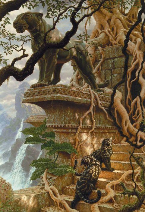 raoulvitale fantasy Art artstation animal tree wallpaper
